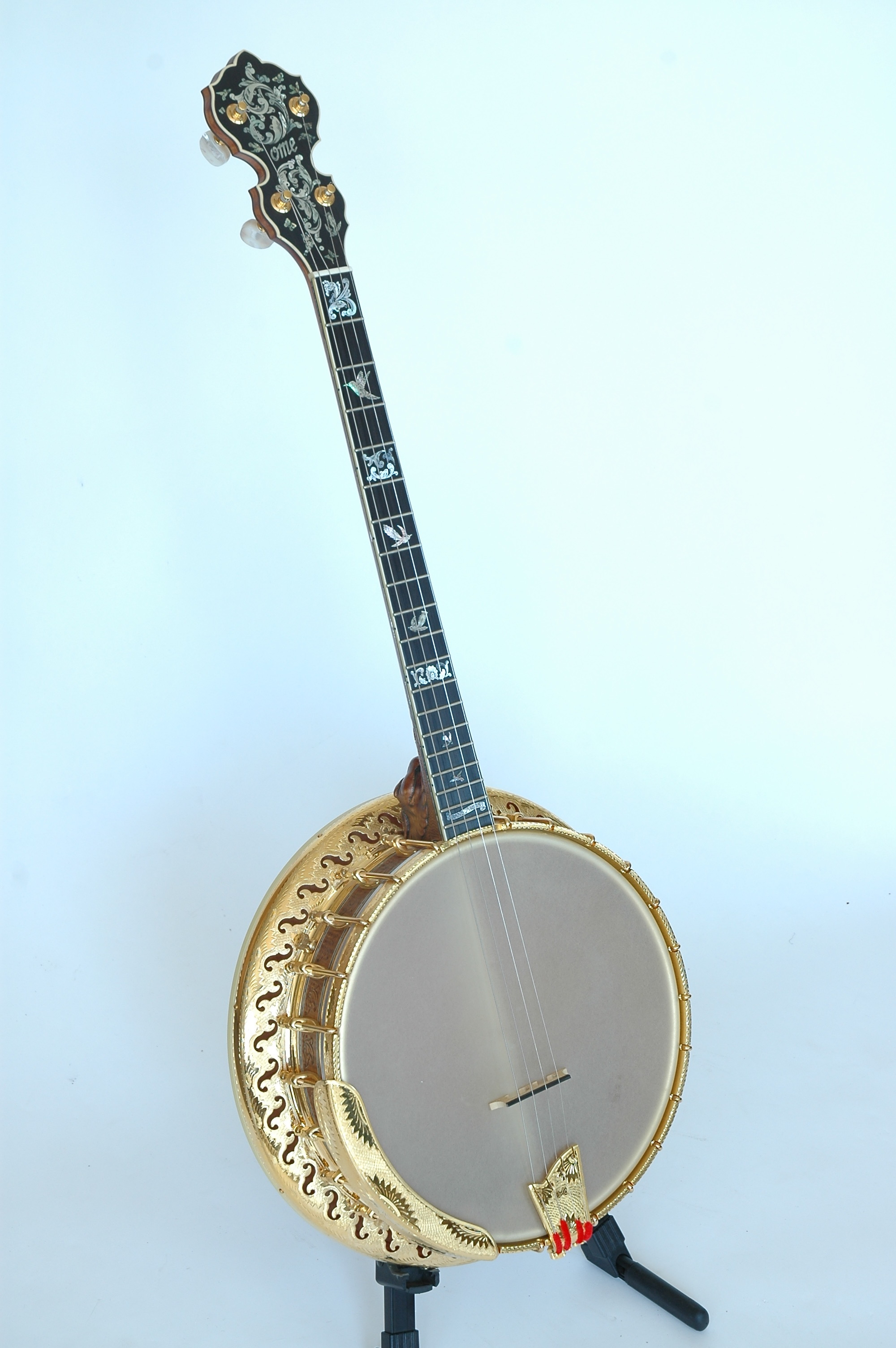 Ome Grand Artist Spring Banjo Front